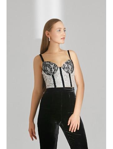 Sequin corset