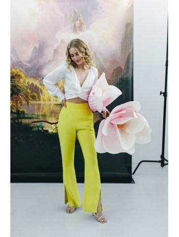 Limonkowe spodnie